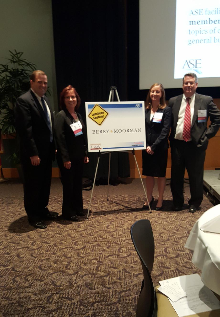 From left: Randy Barker, Sheryl Laughren, Andrea Pike, David Foy